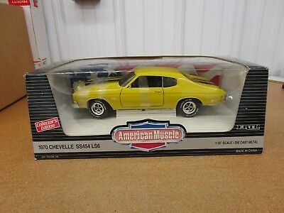 1/18 1970 70 Chevrolet Chevy Chevelle SS454 LS6 Ertl American Muscle yellow
