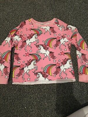 Girls Next Pink Unicorn Jumper Age 10 Years