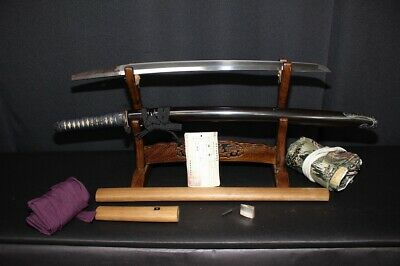 Japanese Antique Katana Short Sword Wakizashi 45.2cm Edo Era Echizen Steel F/S!!