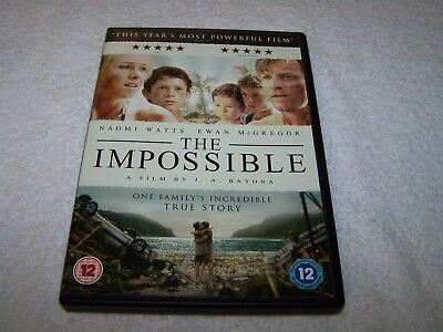 VGC The Impossible (DVD, 2013) Cert 12