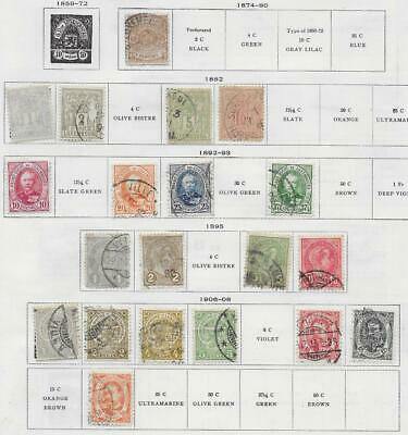 20 Luxembourg Stamps from Quality Old Album 1874-1908