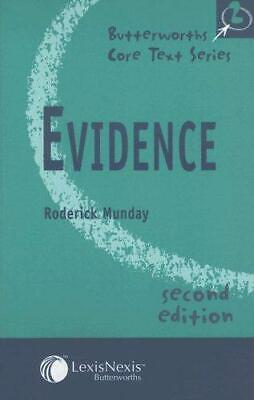 Evidence (Core Text Series), Munday, Roderick, Good Condition Book, ISBN 0406964