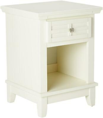Home Styles Arts Crafts Nightstand Drawer Pull-out Tray Recessed Storage White