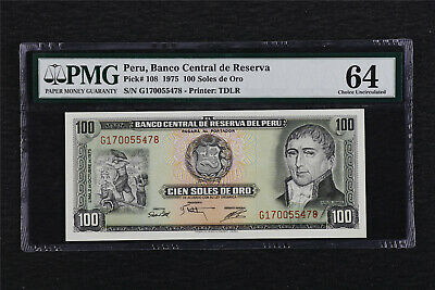 VF+ /> Over 50 years old 50 Soles De Oro 20-8-1965 Peru P-89