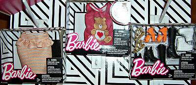 SET/3 BARBIE DOLL CLOTHES Outfit SKIRT CARE BEARS TOP Shirt SHOES Boots NEW!!
