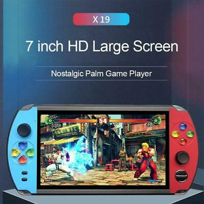 "X19 Retro Handheld Game Player 8/16GB 7.0"" Screen FC Arcade Video Game Console"