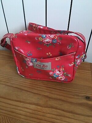 Cath Kidston (Cath Kids) Cross Body Messenger Bag. Red Ditsy Floral. For Child.