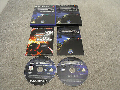 Slip Cov+Complete+Black 1St Edition Need For Speed Carbon Collectors Edition-Ps2