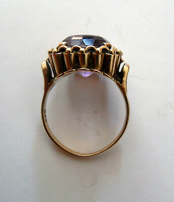 Ring Gold 585 Kunzit ? 50er J.