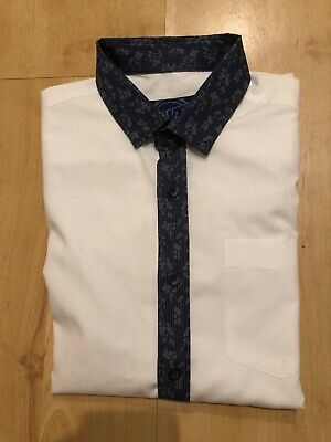 Boys BlueZoo at Debenhams White Longsleeved Shirt Age 10 Years Excellent Cond
