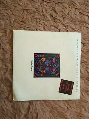 """OMD Orchestral Manoeuvres In The Dark - So In Love Double 7"""" Gatefold  VG-NM"""