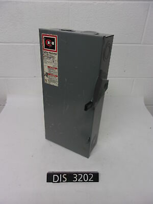 Cutler Hammer 240 Volt 100 Amp Fused Disconnect Safety Switch (DIS3202)