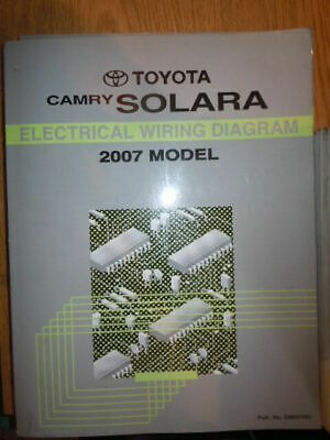 2007 Toyota Camry Electrical Wiring Diagram Troubleshooting Shop Manual Ewd Oem 19 95 Picclick
