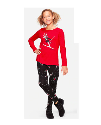 *New* Justice Girls 8 10 12 Holiday Holidays Keyhole Top N Leggings Outfit