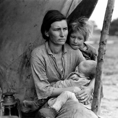 DOROTHEA LANGE Young Migratory Mother 1940 PHOTO POSTER 24X36 Edison CA