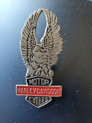 Vintage Classic Logo Harley Davidson pin Eagle with Large Wings Jacket or Hat