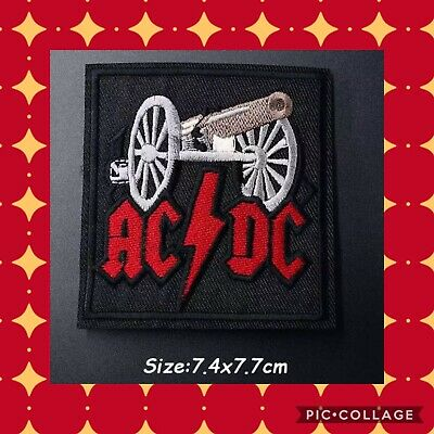🇨🇦 Ac/dc Metal Trash  Embroidered Patch  Sew On/stick On Clothing/new 🇨🇦 #99