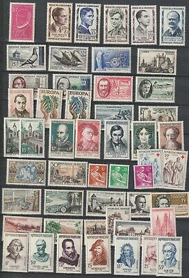 France 1957 complete year set MNH