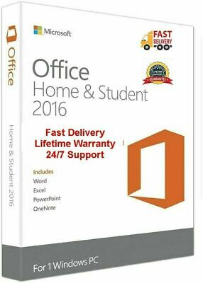 Microsoft Office 2016 Home & Student Full Version Lifetime License ESD Key