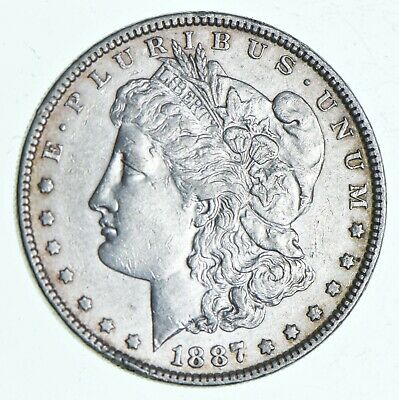 Early 1887 Morgan Silver Dollar - 90% US Coin *023