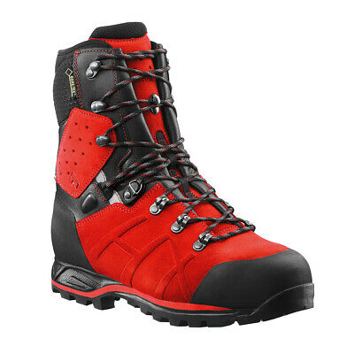 "HAIX 603111 Men's Protector Ultra Signal Red 8"" GORE-TEX Steel Toe Boots Shoes"