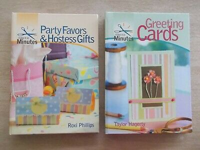 2 x Make It In Minutes~Greeting Cards~Party Favors & Hostess Gifts~Spiral-Bound
