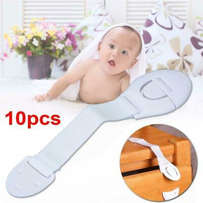 10pcs Child Infant Baby Kids Toddler Safety Door Cabinet Drawer Cupboard Lock IE