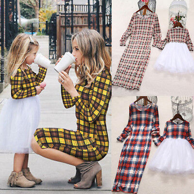 US Mother&Daughter Clothes Parent-child dress Family Matching Outfits Baby Girl