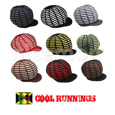 Reggae Rasta Roots Africa Rastafari Jamaica Marley Hat Cap Irie Crown S to M Fit