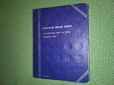 Whitman Lincoln Wheat Cents # 9004 Coin Folder w/ 83 coins. Lot # 2 (1909-1940)