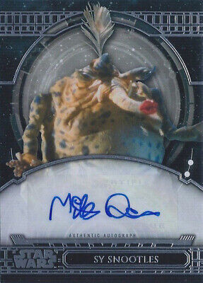2017 Star Wars 40th Anniversary Autographs #AAMQ Mike Quinn as Sy Snootles Auto
