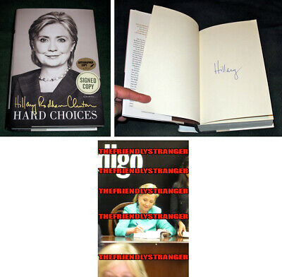 """HILLARY CLINTON signed Autographed """"HARD CHOICES"""" 1st EDITION BOOK - PROOF - COA"""