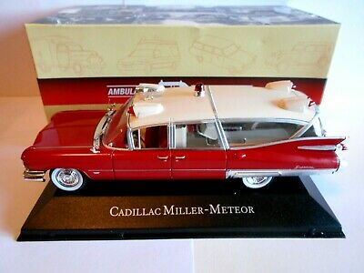 Die cast 1/43 Cadillac Miller -Meteor Ambulance 1959 Atlas  Collection  [002]