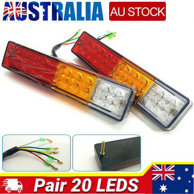 2x 20 LED Trailer Rear Tail Lights 12V Waterproof Caravan Boat Truck Indicator #