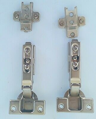 4 CLIP-ON HINGE MOUNTING PLATES FOR 1006-30 HINGES