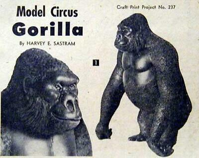 Model Circus Gorilla Wood Menagerie HowTo carve PLANS