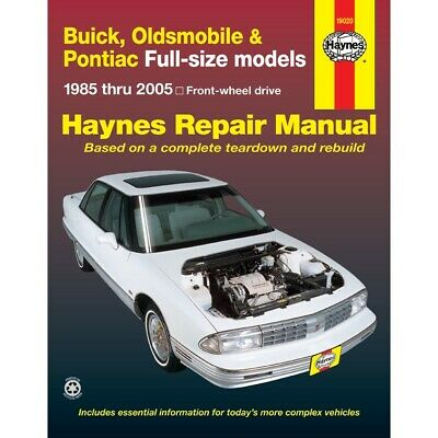 19020 Haynes Repair Manual New for Olds Le Sabre NINETY EIGHT Buick LeSabre 98