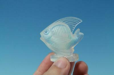 """SABINO OPALESCENT 2"""" FISH FIGURINE ORIGINAL LABEL  base chipped as is"""