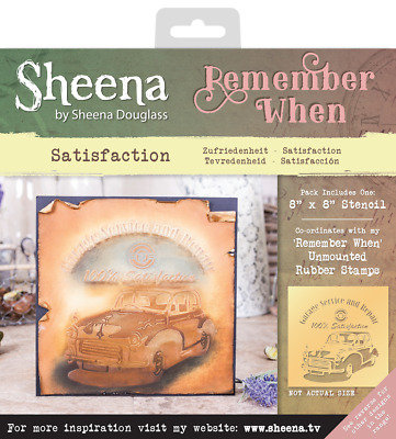 SALE New Sheena Douglass Remember When Stencil Satisfaction
