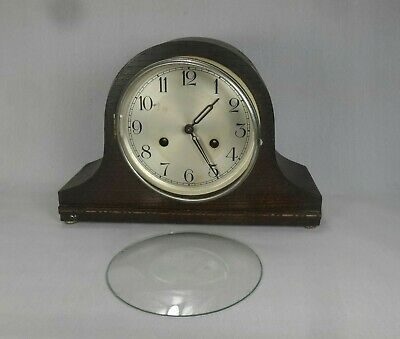 Vintage Spares or Repair Wooden Foreign Mantle Clock Mantle-piece Time Piece