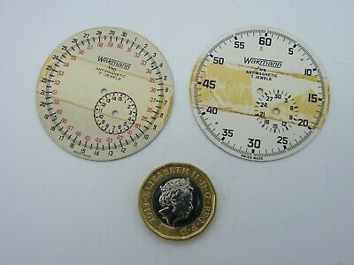 TWO vintage Wakmann pocket watch face / dials - Swiss – new old stock - RARE