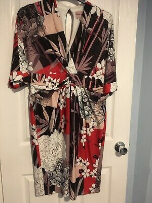 Multi coloured Bamboo Dress, worn once only. Size 16.