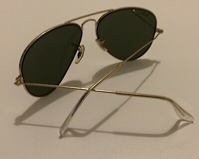 Rayban Aviator Gold 58014 1970s Sunglasses Missing Original Case Minor Abrasions