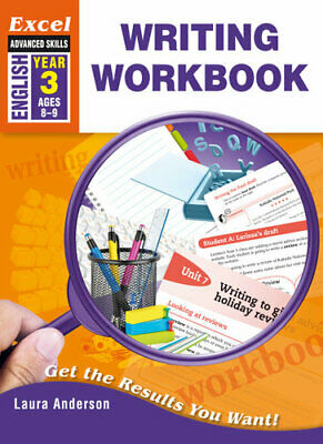 NEW Excel Advanced Skills Writing Workbooks Year 3 By Laura Anderson Paperback