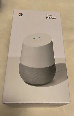 Google Home Smart Speaker with Google Assistant, White/Slate (GA3A00417A14) Seal
