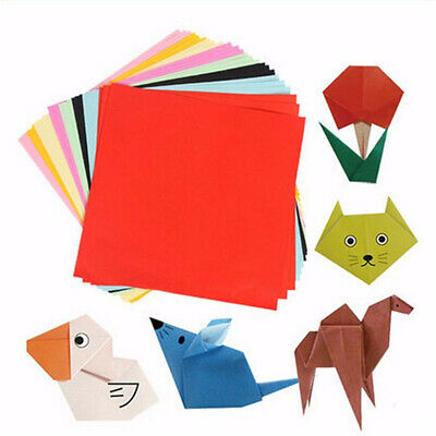 Square Double Sided Colored Folding Paper Art Handmade Craft 100 Sheets UK Stock