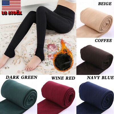 Women Thermal Thick Warm Fleece lined Fur Winter Tight Pencil Leggings Pants NEW