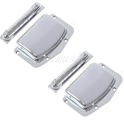 2 Sets Fixed Adjustable Bridge Tailpiece for Teisco Guitar Parts Harmony Kay