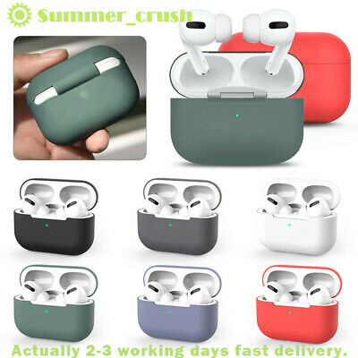 Silicone Earphones Case For Apple AirPods Pro Protective Shell Cover Shockproof