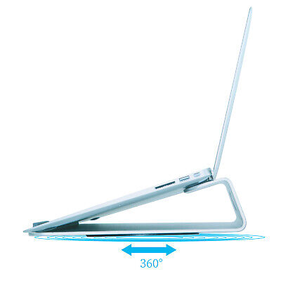 """Aluminum Laptop Cooling Platform Portable Angled Stand for 11"""" to 15"""" laptops"""
